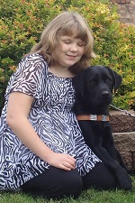 Photo of Children's visual companion dog Banjo with Brooke