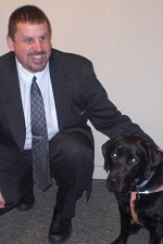 photo of guide dog deegan with randy