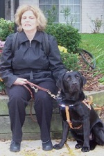 photo of guide dog hanna with jenni