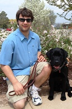 photo of guide dog sonny with jeremiah