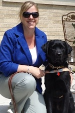 photo of guide dog sparta with tami