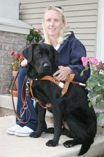 photo of guide dog weily with lisa