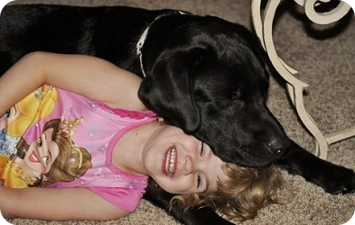 photo of aspen sleeping with 5 year old girl