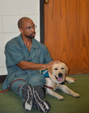 inmate and pup