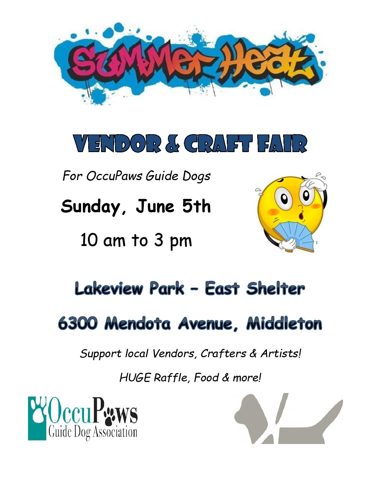 Summer Heat Vendor Fair for OccuPaws @ Lakeview Park in Middleton, WI   | Middleton | Wisconsin | United States