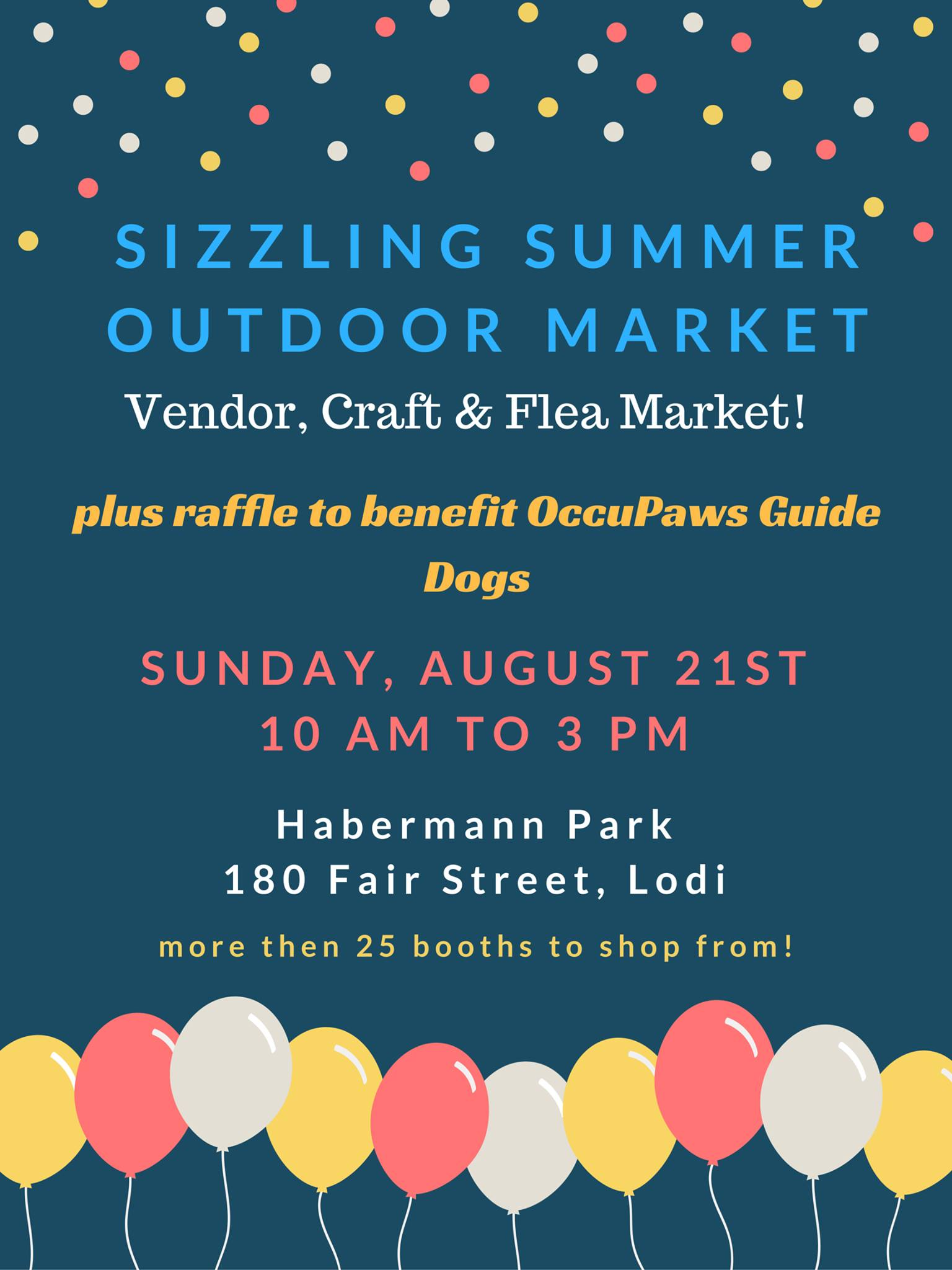 Sizzling Summer Outdoor Market for OccuPaws @ Haberman Park | Lodi | Wisconsin | United States
