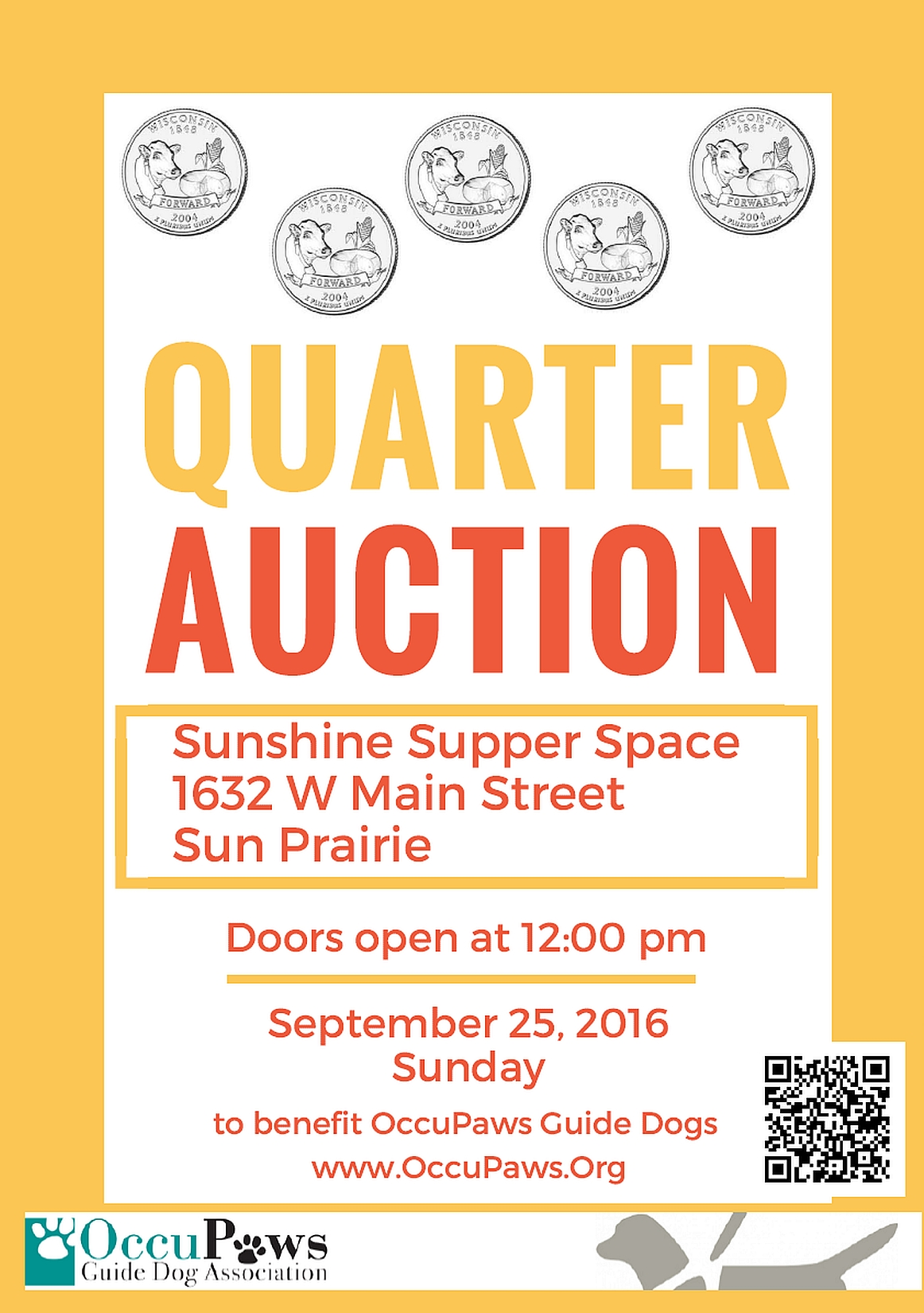Quarter Auction @ Sunshine Supper Place | Sun Prairie | Wisconsin | United States