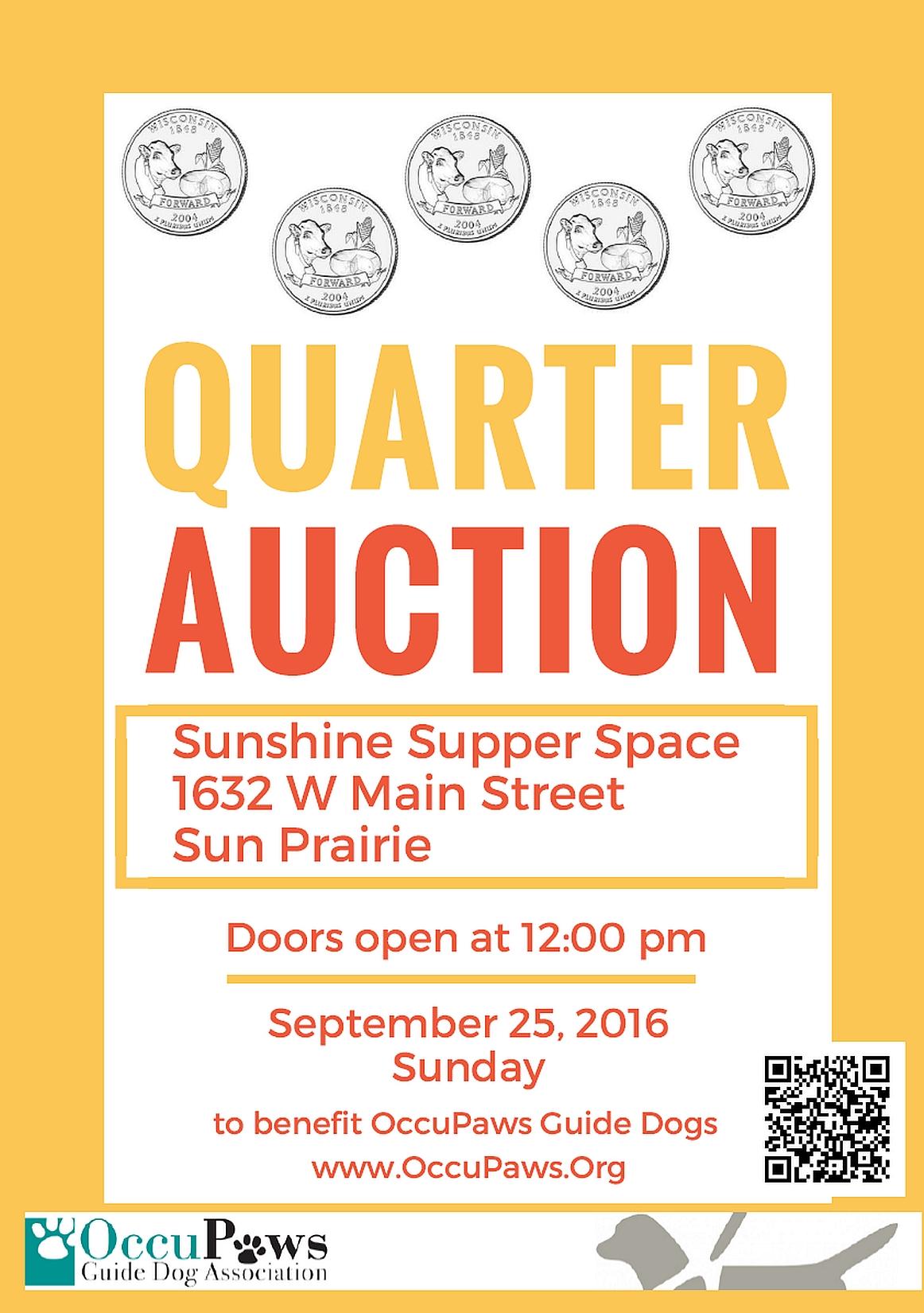 Quarter Auction @ Sunshine Supper Place | Sun Prairie | Wisconsin | United States