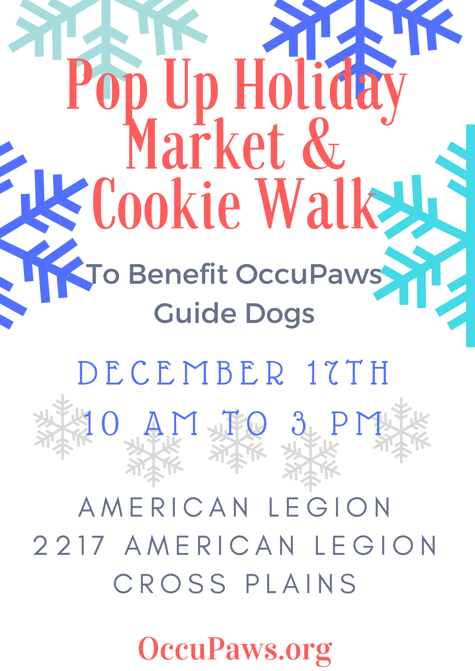 Popup Holiday Market & Cookie Walk @ American Legion Hall | Cross Plains | Wisconsin | United States