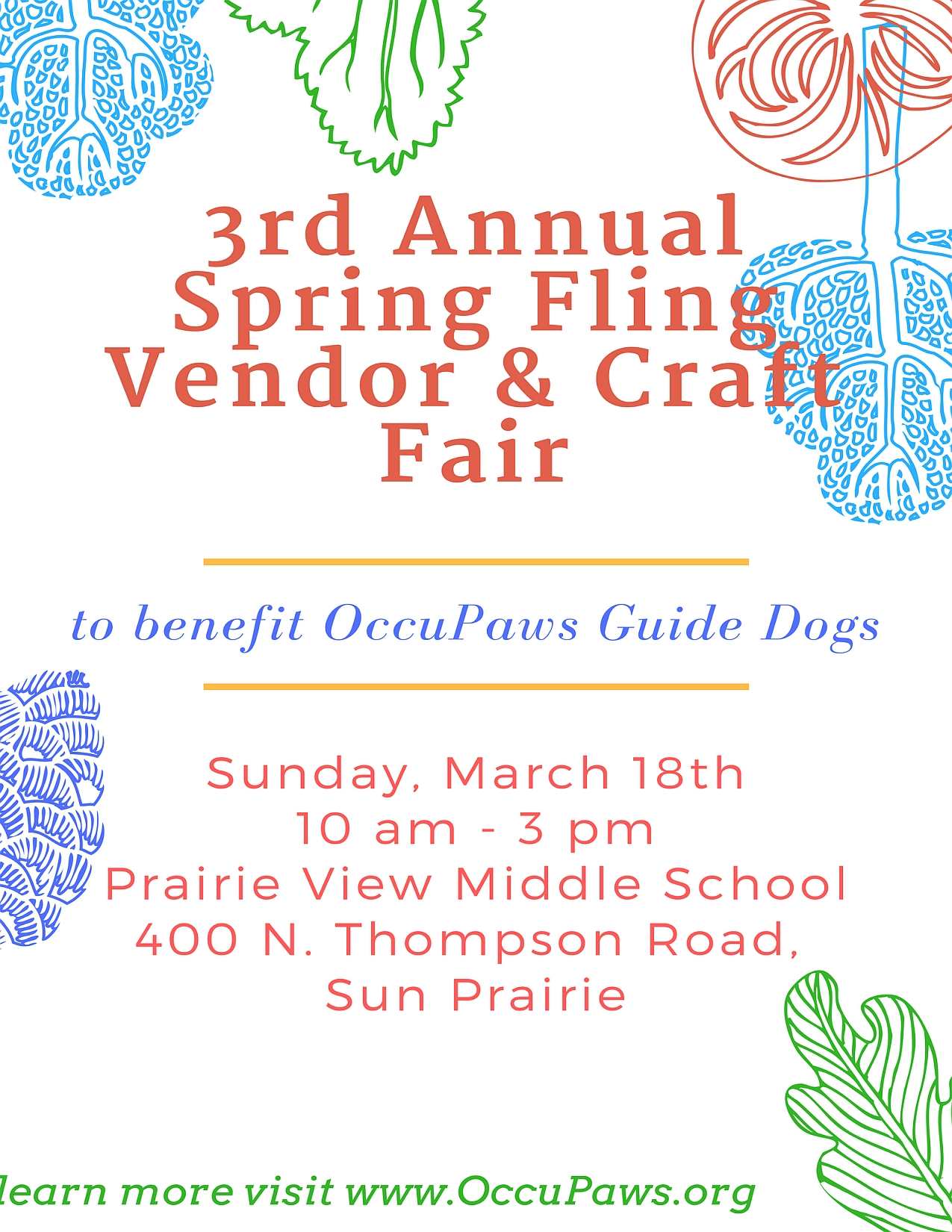 3rd Annual Spring Fling Vendor & Craft Fair @ Prairie View Middle School | Sun Prairie | Wisconsin | United States