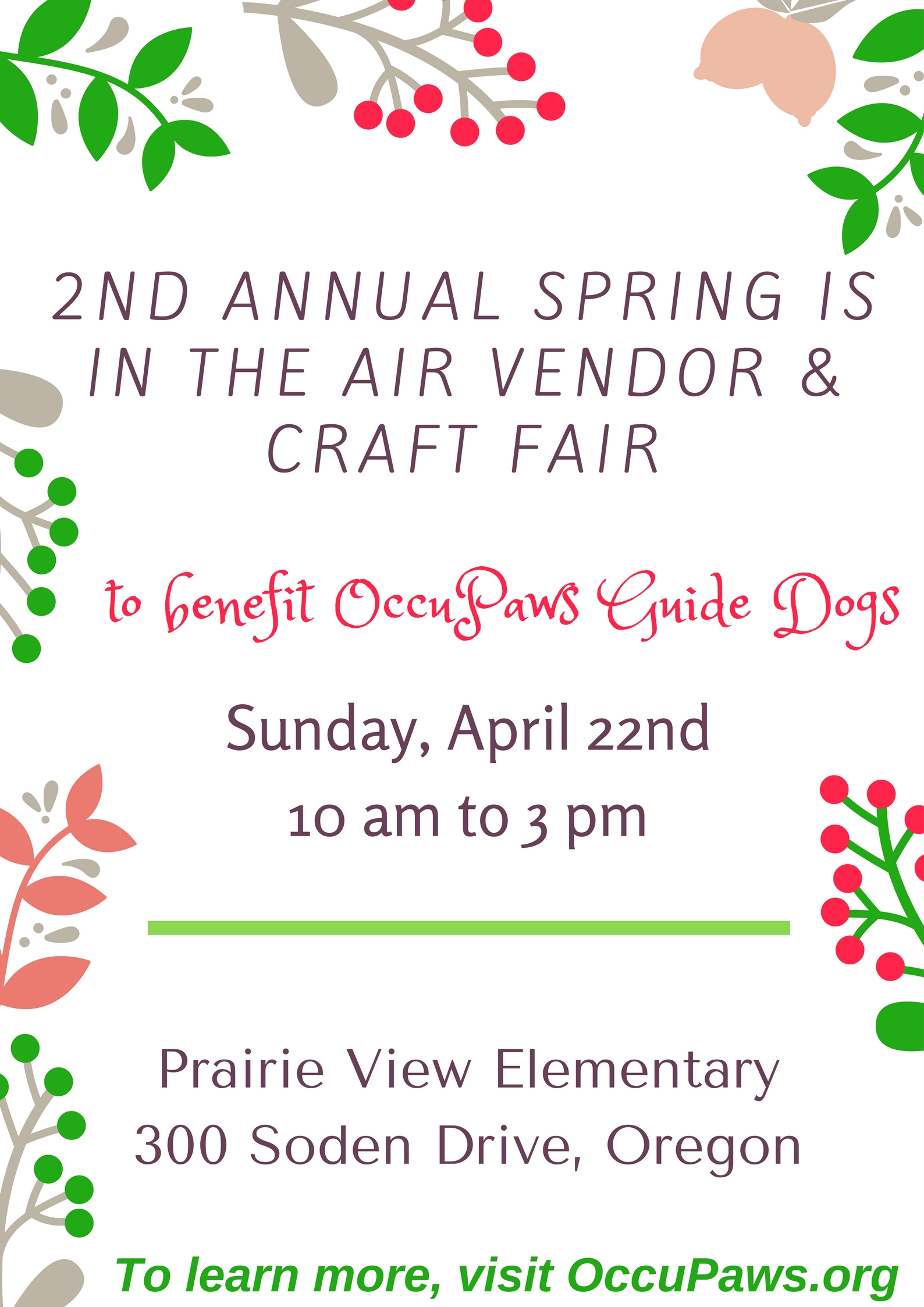 2nd Annual Spring is in the Air Vendor & Craft Fair @ Prairie View Elementary School | Oregon | Wisconsin | United States